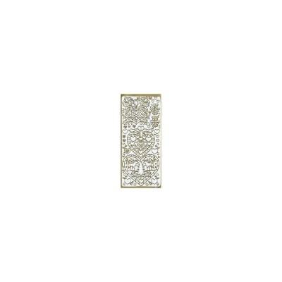 【エンボスステッカー 2490】トールペイントで縁取りに使う金のシール♪トールペイント デコパージュ