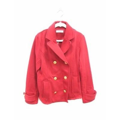 【中古】コルザ COLZA ジャケット テーラード L 赤 レッド /KB レディース