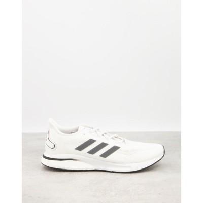 アディダス adidas performance メンズ ランニング・ウォーキング シューズ・靴 adidas Running Supernova trainers in white ホワイト