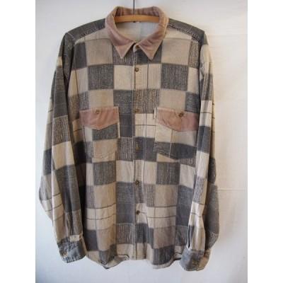 an05922/送料無料/GANT ELE/ブラウンチェックデザインシャツ/XLサイズ相当