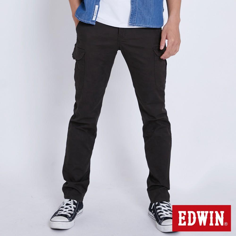EDWIN 迷彩貼袋休閒長褲(墨綠色)-男款
