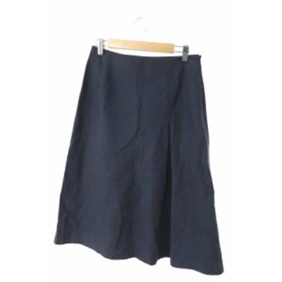 【中古】オールドイングランド OLD ENGLAND スカート ロング ミモレ フレア 36 紺 ネイビー /AY7 レディース