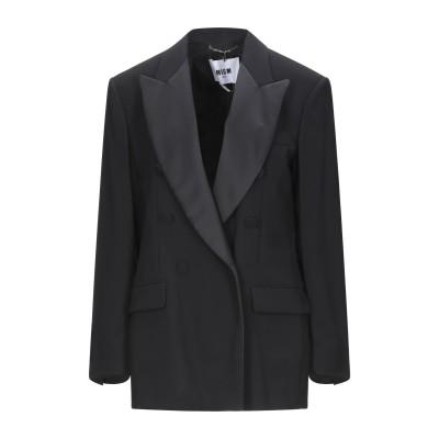エムエスジーエム MSGM テーラードジャケット ブラック 44 ポリエステル 100% テーラードジャケット