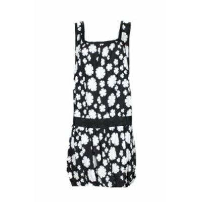 max マックス ファッション ドレス Max Studio Black White Sleeveless Floral Blouson Shift Dress L