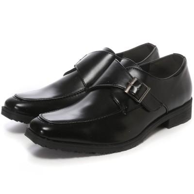 ウィルソン Wilson ビジネスシューズ メンズ 4cm防水、防滑 モックストラップ 紳士靴 (BLACK)