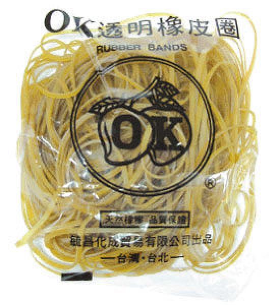 【奇奇文具】OK NO.30橡皮圈8兩/對折12.5cm(特大)