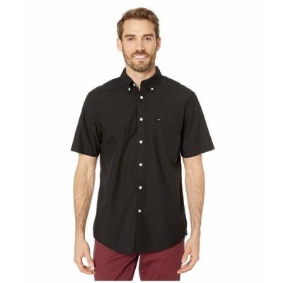 トミー ヒルフィガー シャツ トップス メンズ Maxwell Short Sleeve Button Down Shirt Deep Knit Black