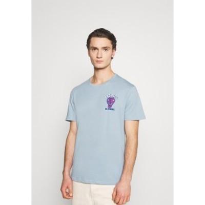 ユアターン メンズ Tシャツ トップス UNISEX - Print T-shirt - blue blue