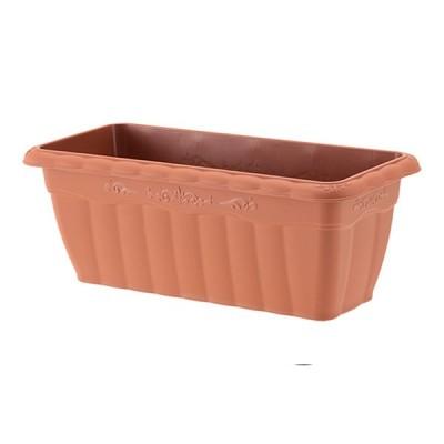 植木鉢 長方形 プラ鉢 アップルウェアー クイーンプランター ブラウン 茶色450型 幅45cm×奥行20cm×高さ17cm