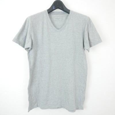 SOPHNET. ソフネット BASIC LINE V-NECK TEE コットン 半袖 無地 Vネック Tシャツ カットソー GRAY M