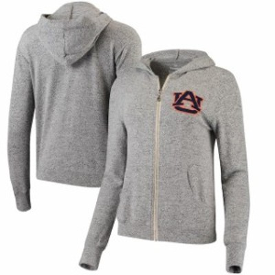 Spirit Jersey スピリット ジャージ スポーツ用品  Auburn Tigers Womens Heathered Gray Brushed Super Soft Tri-Blend Full-Zip Hoodie