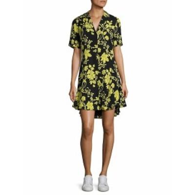 レディース ワンピース Kayden Floral-Print Silk Shirtdress