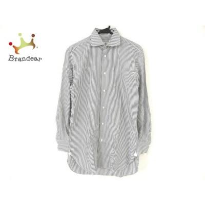 ボレリ BORRELLI 長袖シャツ メンズ - 黒×白 ストライプ  値下げ 20210423