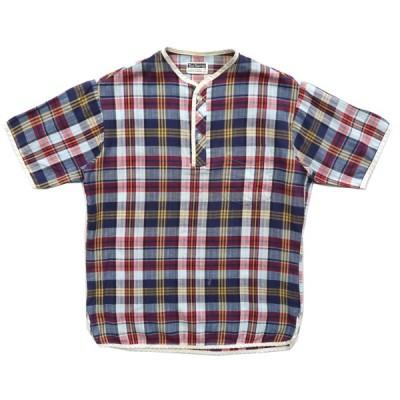 60〜70年代 ビンテージ プルオーバーシャツ マドラスチェック サイズ表記:14