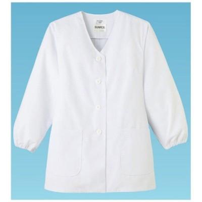 サンペックスイスト 女性用調理衣 長袖 FA-330 4L <STY136>