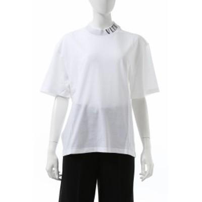 ヴァレンティノ Valentino Tシャツ 半袖 モックネック ホワイト レディース (UB3MG07S5PA) 送料無料 2020年秋冬新作