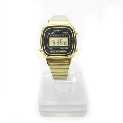 【中古】カシオ CASIO 腕時計 スタンダード LA-670WA デジタル ゴールド 金 1119 レディース