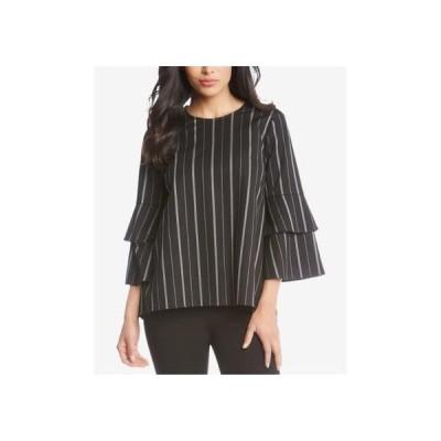 レディース 衣類 トップス Karen Kane Womens Striped Bell Sleeve Pullover Blouse ブラウス&シャツ