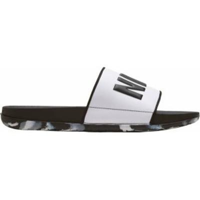 ナイキ メンズ サンダル シューズ Nike Men's OffCourt Slides Black/White
