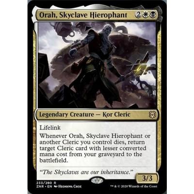 【ZNR】 スカイクレイブの秘儀司祭、オラー/Orah, Skyclave Hierophant 【英:R】