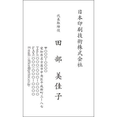 ネコポス 送料無料 名刺作成 シンプルデザイン 100枚入[VCS-013]
