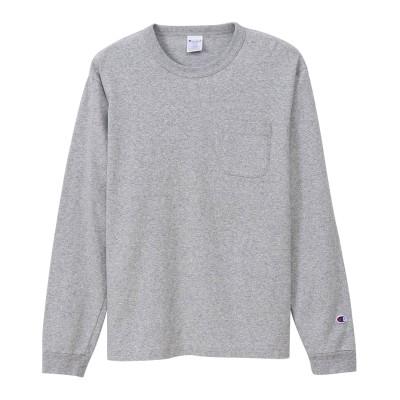 T1011(ティーテンイレブン) ポケット付きロングスリーブTシャツ 20FW MADE IN USA チャンピオン(C5-P401)