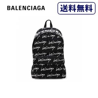 [正規品]送料無料 BALENCIAGA バレンシアガ Wheel Scribble logo backpack ブラック バックパック リュックサック メンズ 507460-9MIPN-1090