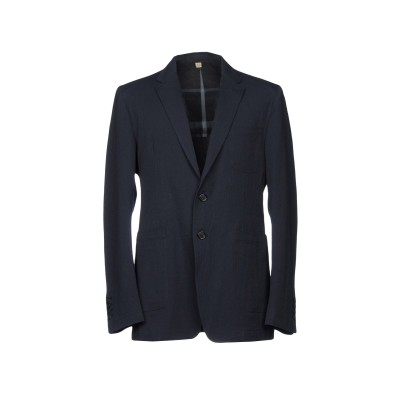 BURBERRY テーラードジャケット ダークブルー 54 コットン 97% / ポリウレタン 3% テーラードジャケット