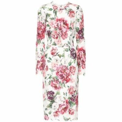 ドルチェandガッバーナ Dolce and Gabbana レディース ワンピース ワンピース・ドレス Floral-printed lace dress Peonie Panna