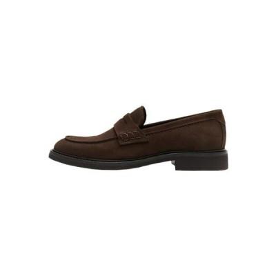 メンズ 靴 シューズ Smart slip-ons - brown