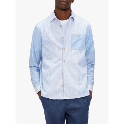 テッドベーカー シャツ メンズ トップス Ted Baker Starrin Striped Shirt, Blue