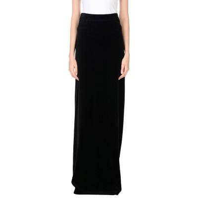 ジューシークチュール JUICY COUTURE ロングスカート ブラック XS コットン 78% / ポリエステル 22% ロングスカート