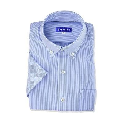 ドレスコード101-ニットシャツ-EXTO20-20-13-サックス×ストライ