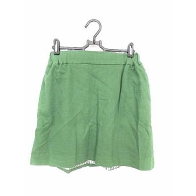 【中古】ドゥーズィエムクラス DEUXIEME CLASSE スカート 台形 ミニ 38 緑 グリーン /AAM レディース