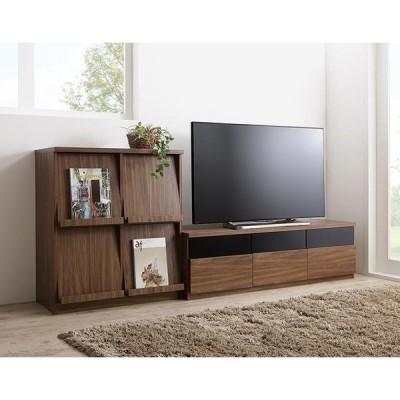 テレビ台 2点セット(テレビボード+フラップチェスト) 幅140 TVボード TV台 テレビラック TVラック 木製 木目