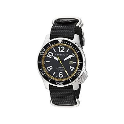 Momentum Men 's Quartzステンレススチールand Nylon Watch, Color : Black (Model : 1m-