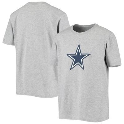 """キッズ Tシャツ """"Dallas Cowboys"""" Youth Primary Logo T-Shirt - Heathered Gray"""