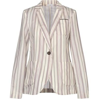 ブルネロ クチネリ BRUNELLO CUCINELLI テーラードジャケット ホワイト M コットン 65% / シルク 35% テーラードジャケ