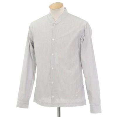 ビルトルナード トルネイド BILL TORNADE ストライプ カジュアルシャツ ホワイト×ブラック S