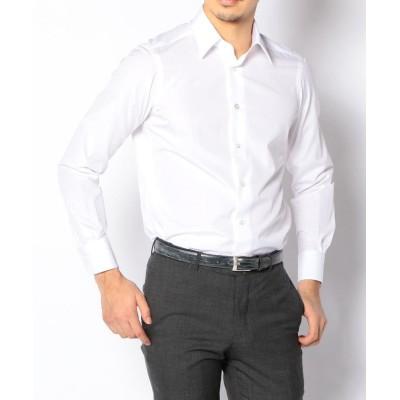 【トゥモローランド】 140/2コットンブロード レギュラーカラー ドレスシャツ メンズ 11ホワイト 42 TOMORROWLAND