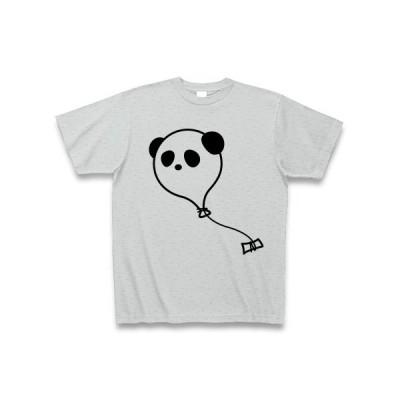 風船パンダ Tシャツ(グレー)