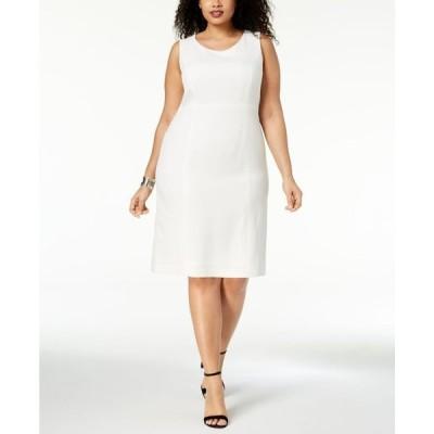 カスパール レディース ワンピース トップス Plus Size Crepe Sheath Dress
