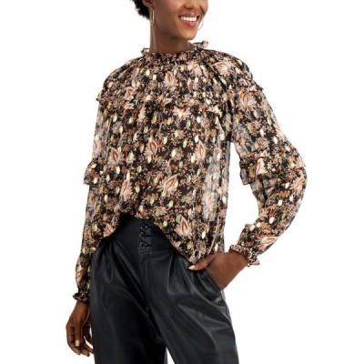 アイエヌシーインターナショナルコンセプト レディース シャツ トップス INC Ruffled Floral-Print Blouse