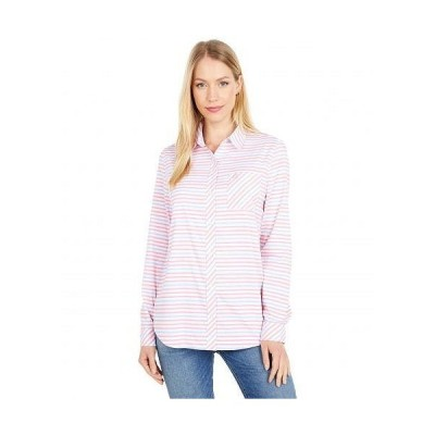 Southern Tide レディース 女性用 ファッション ボタンシャツ Emery Button Front Shirt - Classic White