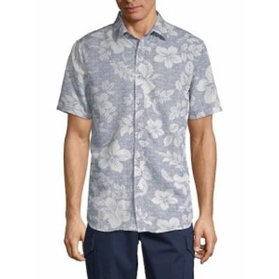 サックスフィフスアベニュー メンズ カジュアル ボタンダウンシャツ Printed Button-Down Shirt
