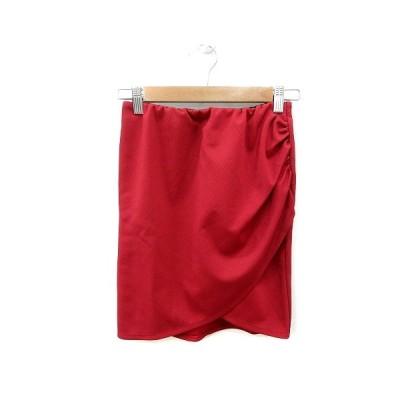 【中古】ムルーア MURUA タイトスカート ミニ S 赤 レッド /ST レディース 【ベクトル 古着】