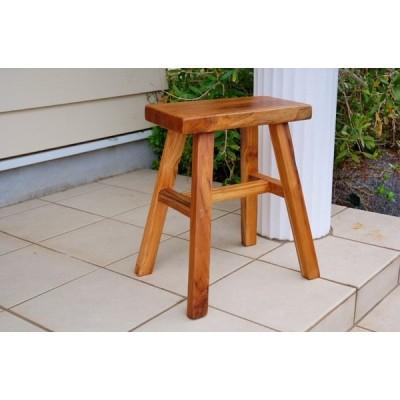オールドチーク スツール  アンティーク スクエア ダークブラウン 木製  角型 イス ロー 昭和レトロ ウッドスツール  シンプル  踏み台
