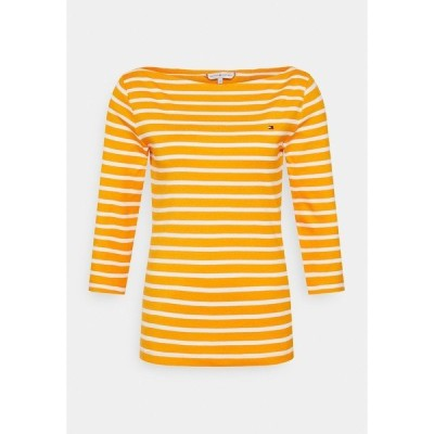 トミー ヒルフィガー カットソー レディース トップス AISHA BOAT - Long sleeved top - yellow/white
