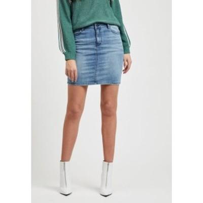 オブジェクト レディース スカート ボトムス OBJWIN - Denim skirt - medium blue denim medium blue denim