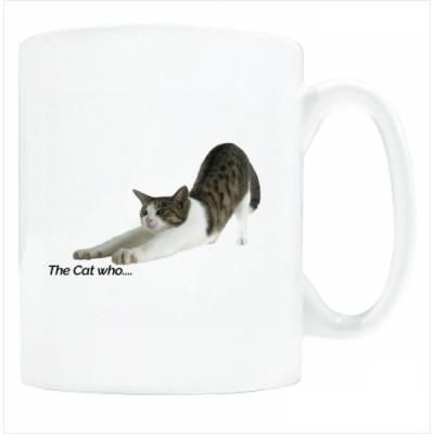 送料無料 マグカップ (ライト) The Cat who.... のびジェリー ( 直径8×高さ9.2cm ザ・キャットフー タレネコ 名入れ可能 Art MugCup Cats)